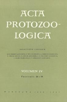 Acta Protozoologica, Vol. IV, Fasc.26-35