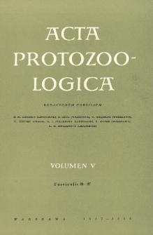 Acta Protozoologica, Vol. V, Fasc. 21-27
