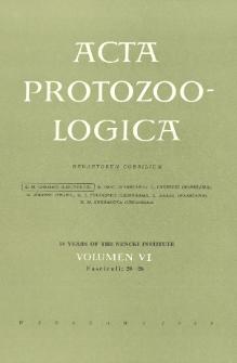 Acta Protozoologica, Vol. VI, Fasc. 20-26