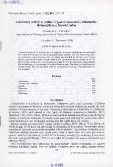 Locomotory activity of captive Cryptomys hottentotus, (Mammalia: Bathergidae) a fossorial rodent