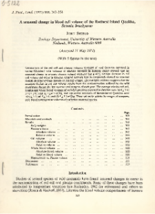 A seasonal change blood cell volume of the Rottnest Island Quokka, Setonix brachyurus