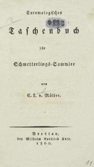 Entomologisches Taschenbuch für Schmetterlingssammler