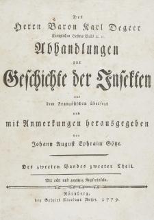 Abhandlungen zur Geschichte der Insekten aus dem Französischen übersetzt und mit Anmerkunge [...]. T. 2, p. 2
