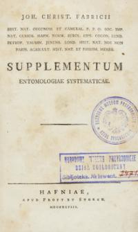 Supplementum Entomologiae systematicae