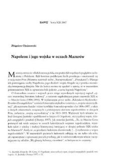 Napoleon i jego wojska w oczach Mazurów