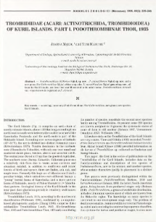 Description of larva and deutonymph of Paratrombium insulare (Berlese, 1910) (Acari: Acinotrichida: Trombidioidea) with characteristics of adult instar and remarks on other members of the genus