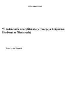 W zwierciadle obcej literatury (recepcja Zbigniewa Herberta w Niemczech)