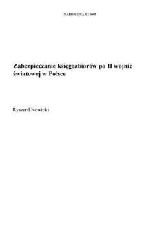 Zabezpieczanie księgozbiorów po II wojnie światowej w Polsce
