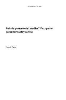 """Polskie """"postcolonial studies""""? Przypadek południowoafrykański"""