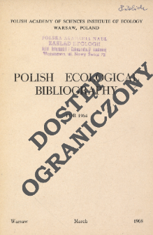 Polish Ecological Bibliography for 1964 (1968)