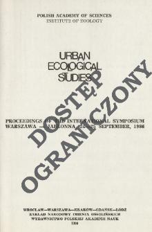 Urban ecological studies [in Central and Eastern Europe] : proceedings of the International Symposium, Warszawa-Jabłonna, 24-25 September 1986