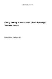 Gruzy i ruiny w twórczości Józefa Ignacego Kraszewskiego