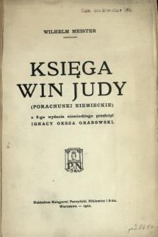 Księga win Judy : (porachunki niemieckie)