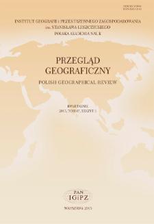 Przegląd Geograficzny T. 87 z. 3 (2015), Spis treści