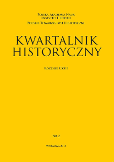 Kwartalnik Historyczny R. 122 nr 2 (2015), Title pages, Contents