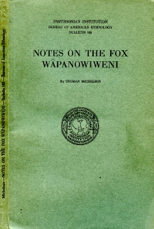 Notes on the Fox Wâpanowiweni