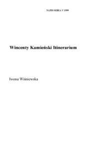 "Wincenty Kamieński: ""Itinerarium"""