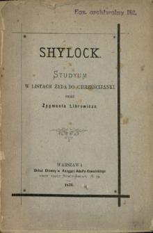 Shylock : studyum w listach żyda do chrześcjanki