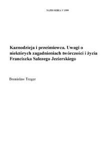 Kaznodzieja i prześmiewca. Uwagi o niektórych zagadnieniach twórczości i życia Franciszka Salezego Jezierskiego