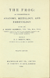 The frog : an introduction to anatomy, histology and embryology