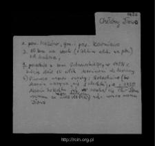 Chełchy Iłowe. Kartoteka powiatu przasnyskiego w średniowieczu. Kartoteka Słownika historyczno-geograficznego Mazowsza w średniowieczu