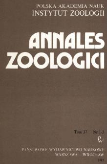 Annales Zoologici - Strony tytułowe, spis treści, nr 1-3 (1983)