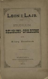 Leon i Lajb : studyjum religijno-społeczne