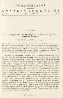 Über die Aegopinella-Arten (Gastropoda, Zonitidae) aus Jugoslawien, Italien und Frankreich