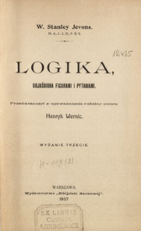 Logika, objaśniona figurami i pytaniami