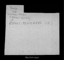 Romany-Fuszki. Kartoteka powiatu przasnyskiego w średniowieczu. Kartoteka Słownika historyczno-geograficznego Mazowsza w średniowieczu