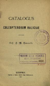 Catalogus coleopterorum Haliciae