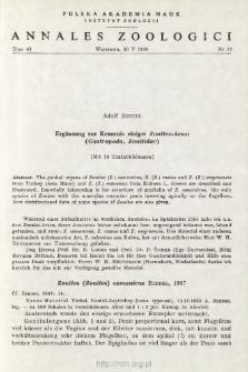 Ergänzung zur Kenntnis einiger Zonites-Arten (Gastropoda, Zonitidae)