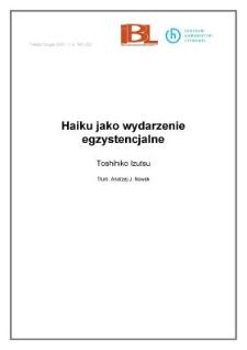 Haiku jako wydarzenie egzystencjalne