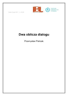 Dwa oblicza dialogu