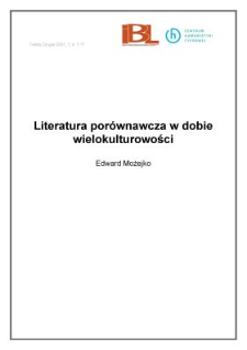 Literatura porównawcza w dobie wielokulturowości