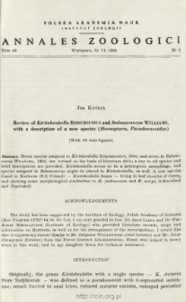 Review of Kiritshenkella BORCHSENIUS and Balanococcus WILLIAMS, with a description of a new species (Homoptera, Pseudococcidae)