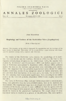 Morphology and Vestiture of the Tortricidae Valva (Lepidoptera)