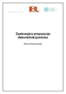 Dyskusyjna propozycja dekonstrukcjonizmu