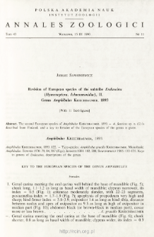 Revision of European species of the subtribe Endaseina (Hymenoptera, Ichnemonidae), 2. Genus Amphibulus KRIECHBAUMER, 1893