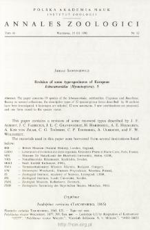 Revision of some type-specimens of European Ichneumonidae (Hymenoptera), 5