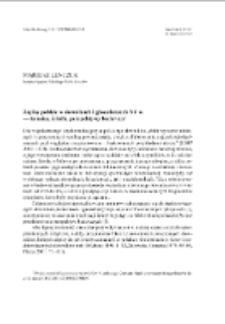 Zapisy polskie w słownikach i glosariuszach XV w. — terminy, źródła, perspektywy badawcze