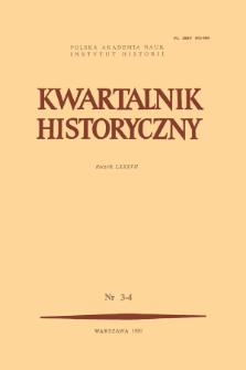 Kwartalnik Historyczny R. 87 nr 3-4 (1980), Problemy środowiska historycznego