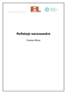Refleksje warszawskie