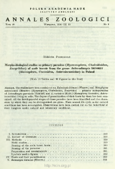 Morpho-biological studies on primary parasites (Hymenoptera, Chalcidoidea, Encyrtidae) of scale insects the genus Asterodiaspis SIGNORET (Homoptera, Coccoidea, Asterolecaniidae) in Poland