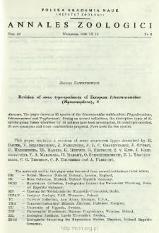 Revision of some type-specimens of European Ichneumonidae (Hymenoptera). 2