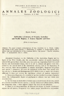 Salticidae (Araneae) of Oriental, Australian and Pacific Regions. 1., Genera Clynotis and Tara
