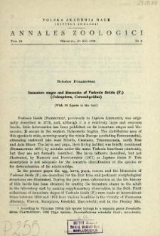 Immature stages and bionomics of Vadonia livida (F.) (Coleoptera, Cerambycidae)