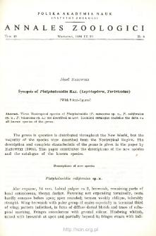 Synopsis of Platphalonidia RAZ. (Lepidoptera, Tortricidae)