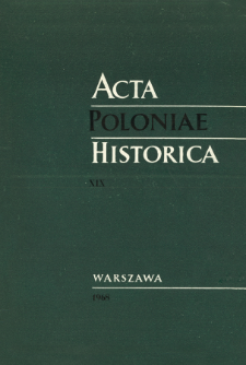 Acta Poloniae Historica T. 19 (1968), Title pages, Contents