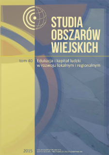 Naukowy program badawczy. Studium przypadku geografii rolnictwa w Polsce = Scientific research program. Case study of the Polish geography of agriculture